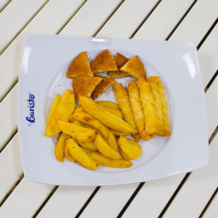 Karışık Aperatif Nugget, patates, sigara böreği.